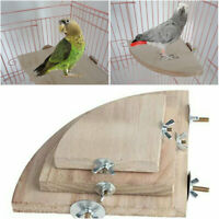 Stand Platform Wooden Mini Round Parrot Bird Cage  Perches Pet Budgie Toy Gifts