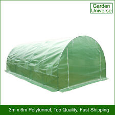 Polytunnel by Garden Universe 25mm Galvanised Frame Greenhouse Poly Tunnel 3 x 6
