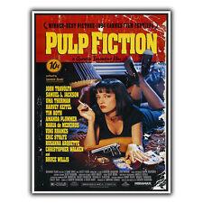 PULP FICTION Tarantino Metallo Segno Piastra a parete FILM MOVIE Annuncio Poster Art Print