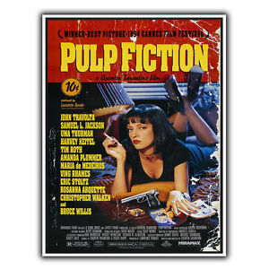 PULP FICTION TARANTINO SIGN METAL WALL PLAQUE Film Movie Advert poster art print