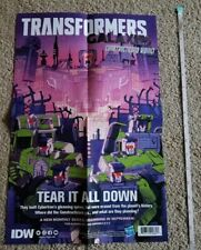 SDCC 2019 TRANSFORMERS / G.I. JOE IDW Comic Book Poster Con Promo 17 x 11 inches