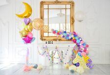 7x5 Kid Birthday Backdrop Baby Photography Prop Balloon Unicorn Background Vinyl
