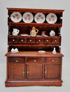 Reutter Germany dollhouse miniature cupboard w/porcelain MIB