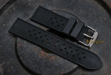 22mm TROPIC Swiss Tropical Style Vintage Watch Strap Rubber Silicon Diver Band