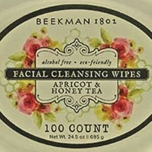 Beekman 1802 APRICOT & HONEY TEA Facial/Body Cleansing Wipes Jumbo 100 ct Rare!