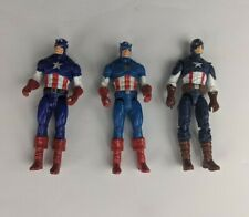 """Loose Marvel Universe set of 3Captain America 4"""" action figures loose"""