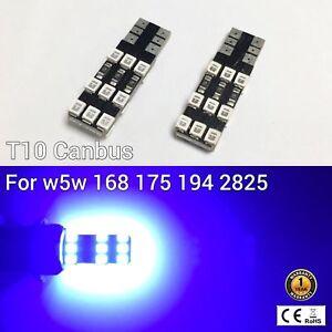 T10 W5W 194 168 2825 175 12961 Reverse Backup Light BLUE 18 Canbus LED M1 AR