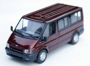 Ford Transit V Bus Tourneo Bj. 2000-2006, dunkelrot-metallic, Minichamps M. 1:43