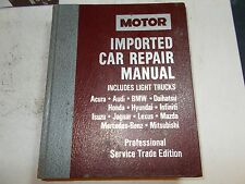 1991 MOTOR'S IMPORTED CAR REPAIR MANUAL 88 89 90 91 AUDI BMW LEXUS MAZDA JAGUAR