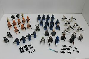 Lot of 46 LEGO Star Wars Minifigures and Weapons / Accessories - Troopers Droids