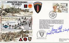 JS50 44/4C Segunda Guerra Mundial día D Op Overlord RAF Cubierta firmado Brigadier Hill DSO ** Mc
