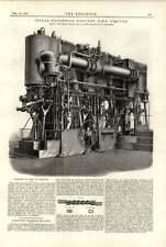 1891 HMS Sybille Triple Expansion moteurs ligne connectée mixte