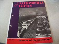 Amazing April 1949 Ward's Automobile Topics Magazine Return of the Saleman