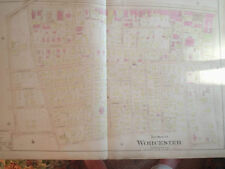 WORCESTER MASSACHUSETTS ANTIQUE MAP HISTORICAL SOCIETY