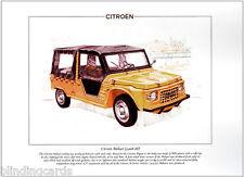 Citroën mehari (1968-88) - fine art print A4-français soft-top véhicule utilitaire