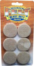 "Slipstick 1-1/2""Heavy Duty Self-Stick Felt Pads,Oatmeal"