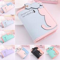 ITS- Lady Cute Pandent Short Long Purse Card Holder Zipper Coin Bag Wallet I