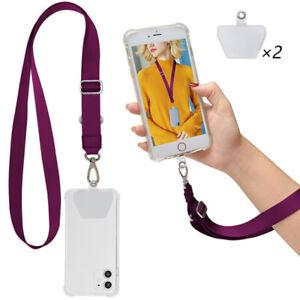 Universal Crossbody Patch Phone Lanyards Mobile Strap Lanyard Nylon Soft Rope US