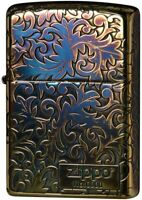 Zippo Lighter Classic Arabesque Logo Gold Plating 5-Sides Etching Japan Limited