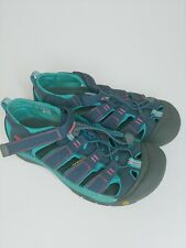 Keen Midnight Newport H2 Youth Sandal Sz 5 Navy Turquoise outdoor water 1012316