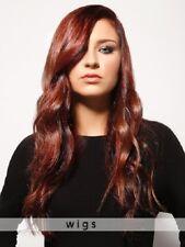 Wie Echthaar!High-End Natürliche Damen Long Gelockt Rot Volle Perücken wig