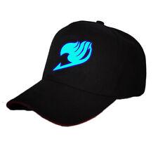 New Anime Fairy Tail Baseball Cap Outdoor Sun Hat Print Cosplay Hip Hop Luminous