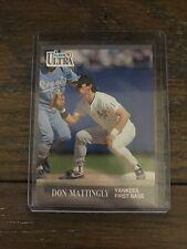 1991 Fleer Ultra Don Mattingly #239 baseball card New York Yankees