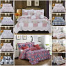 Vintage Patchwork Bedspread Single Double King Size Bed Throw Comforter Set