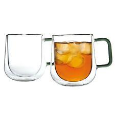 2 x Ravenhead DOUBLE WALLED Thermo Glass MUG 300ml TEA Coffee CAPPUCCINO