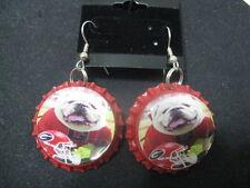 """1"""" Bottle Cap Image Earrings ~ Handcrafted ~ *Gift Idea ~ Bulldogs"""