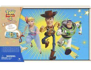 Disney Toy Story 4 Jigsaw Puzzles with Wood Storage Box (7 puzzles)