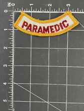 Vintage Paramedic Patch EMS EMT Emergency Medical Service Technician Rescue EMA