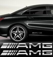 AMG Seitenaufkleber 2 Stk Aufkleber Stickers Mercedes SPIEGEL CHROMEFFEKT Folie