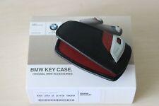 BMW Llavero Fob Funda Protectora de Cuero Genuino M Sport Rojo 82292219909