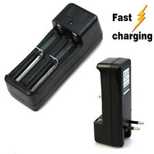 Universal Dual Battery Charger for 18650 16340 14500 Rechargeable Li-on 3.7V EU