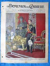 La Domenica del Corriere 1 giugno 1902 AlfonsoXIII - Pelée Martinica - Richelieu