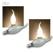 E14 LED Windstoß Kerzenlampe 2W / 4W, warmweiß Leuchtmittel Birne Kerze E-14