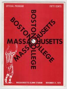 1970 BOSTON COLLEGE Umass UNIVERSITY MASSACHUSETTS NCAA FOOTBALL Program EAGLES