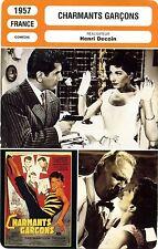 Fiche Cinéma. Movie Card. Charmants garçons (France) 1957 Henri Decoin
