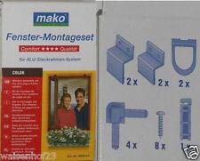 1 x Mako Fenster Montageset für ALU Steckrahmen System Braun 889941