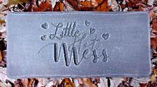 """Little Hot Mess Valentine's plaque mold concrete plaster resin reusable 12"""" x 6"""""""