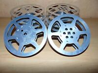 """Lot of 10pc empty 16mm Aluminum Metal film reel 5"""" 200ft movie take up 200'"""