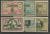 German NOTGELD AUGUSTENBURG #L52a Complete Set 2 UNC  RETAILS $10+