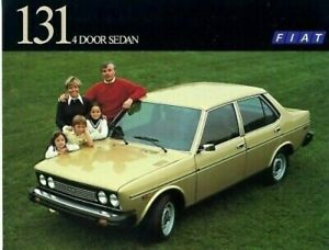 Fiat 131 4 Door Sedan 1977 Dealer Brochure