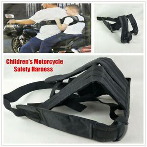 Black Child  Motorcycle Scooter Safety Strap Belt Harness Chest Kids Safe Buckle