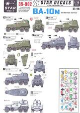 Star Decals 1/35 SOVIET BA-10M ARMORED CAR IN GERMAN WWII SERVICE