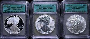 20th ANNIVERSARY 2006 ASE SET ICG; RP 69 DCAM, PR 69 DCAM, SP 69 WITH OGP NO COA