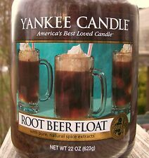 """Yankee Candle """"ROOT BEER FLOAT"""" Large 22 oz. ~ WHITE LABEL~ NEW!"""