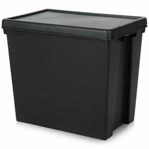 Wham Bam Black Recycled Storage Boxes with Lids Stackable - ALL SIZES