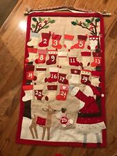 Pottery Barn Kids 25 Pocket Christmas Countdown Advent Calendar Santa Deer